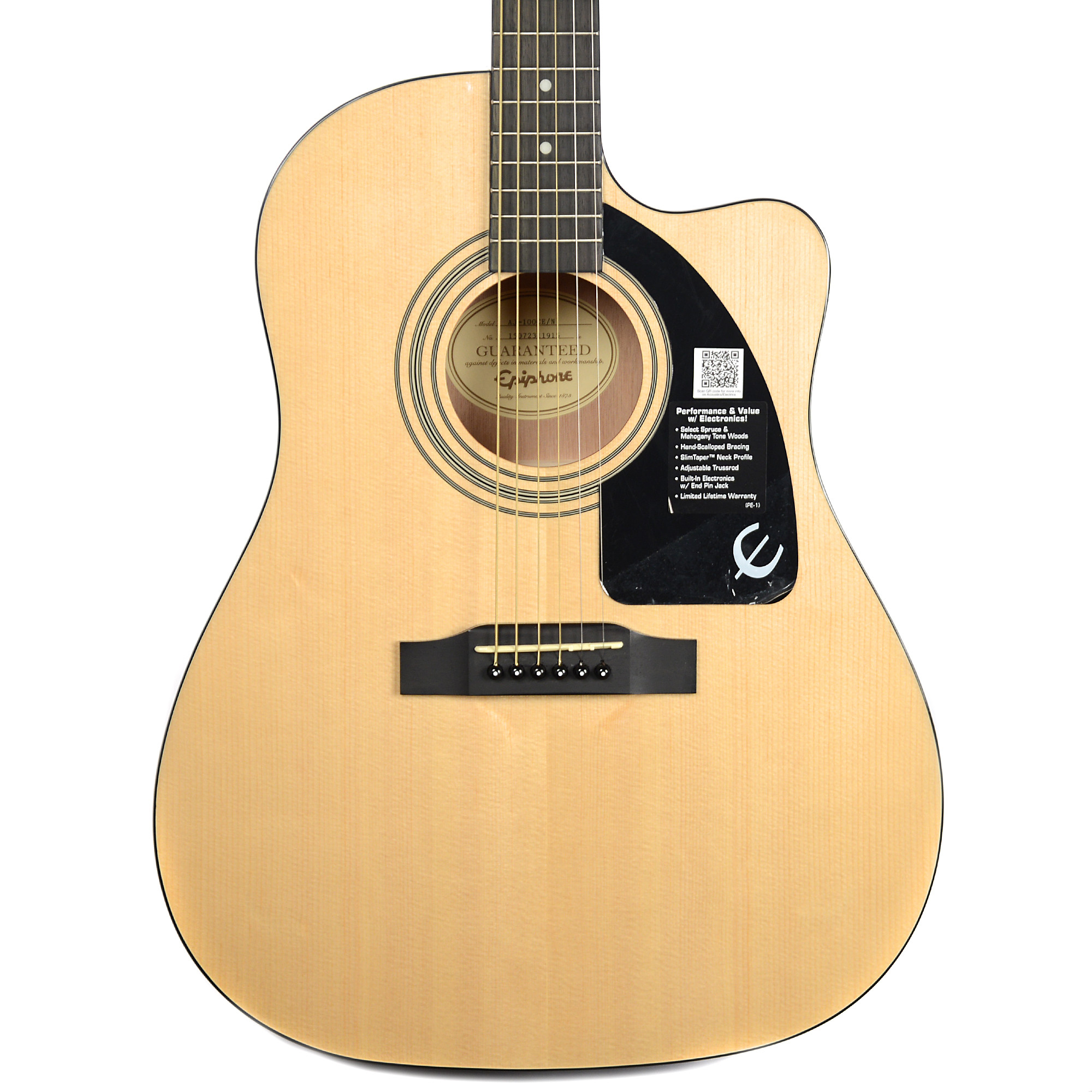 Epiphone AJ-100CE Advanced Jumbo Acoustic-Electric Natural