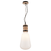 Pendants 1 Light With Rusty Iron with Salvaged Wood Finish Hand-Cared Wood and Wrought Iron Material Medium 28 inch Long 100 Watts