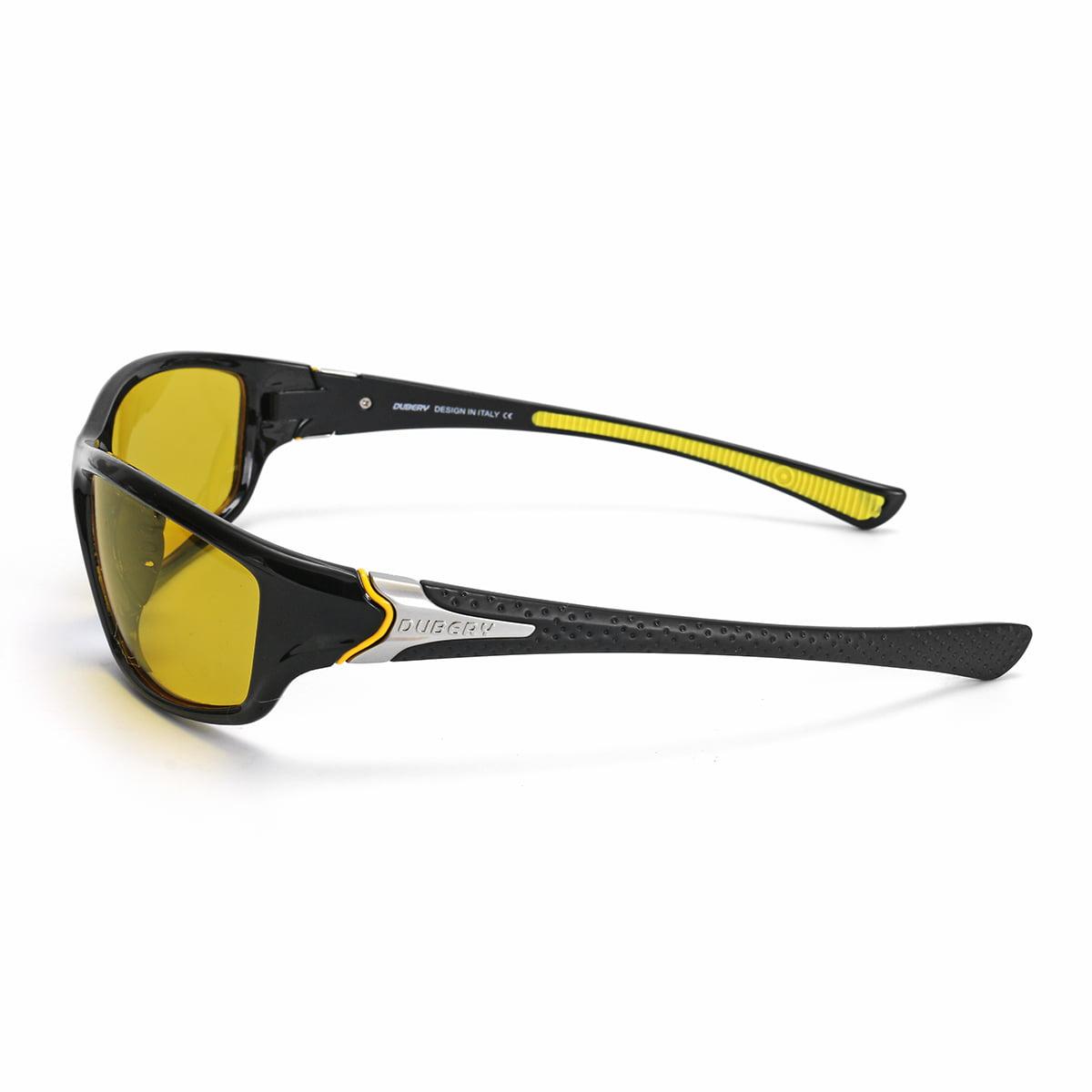 DUBERY Men Brand Designer Sunglasses Polarized Cycling Sport Driving Sun Glasses