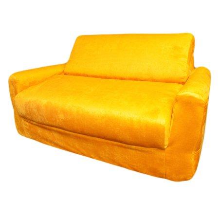 Fun Furnishings Canary Yellow Sofa Sleeper with Pillows ()