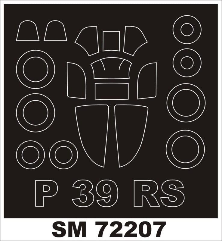Montex Mini Mask 1:72 P-39 Airacobra for MS Models Kit Spraying Stencil #SM72207