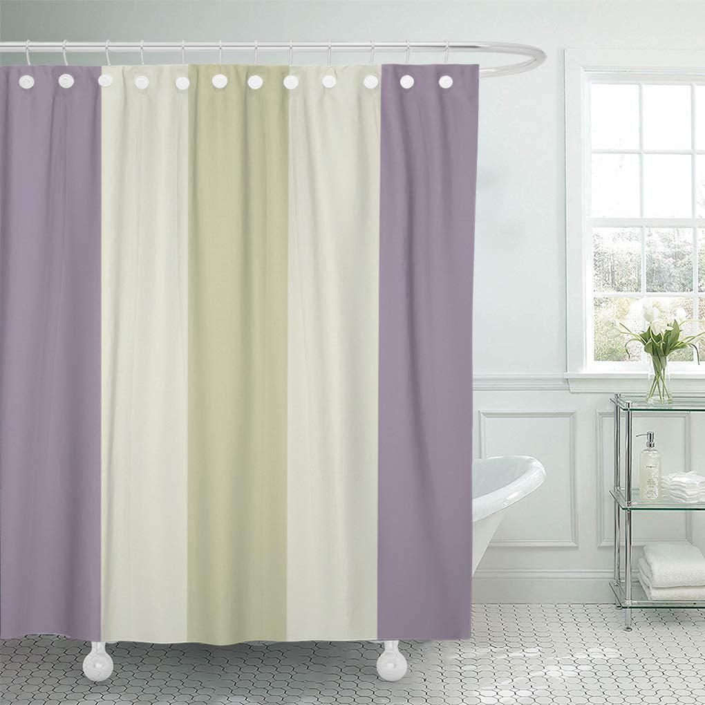 Yusdecor Light Pale Purple Cream Green, Purple And Green Bathroom Decor