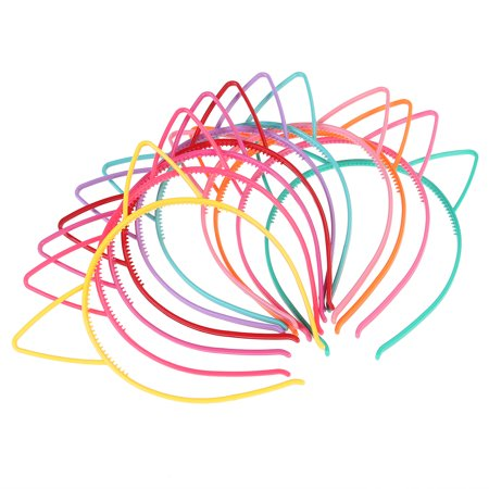 Clearance FRCOLOR 10pcs Cat Ear Headband Plastic Cat Hairband Cat Bow Hairbands Makeup Party Headwear for Women Girls (Toddler Cat Ears)
