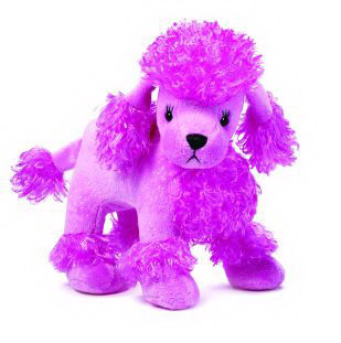 Glittery Pink Sparkle Poodle Plush by Ganz