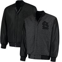 St. Louis Cardinals JH Designs MLB Reversible Wool Jacket - Heathered Charcoal