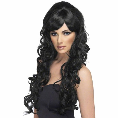 Pop Starlet Wig Adult Halloween Costume Accessory](Halloween Costume Ideas With Long Black Wig)