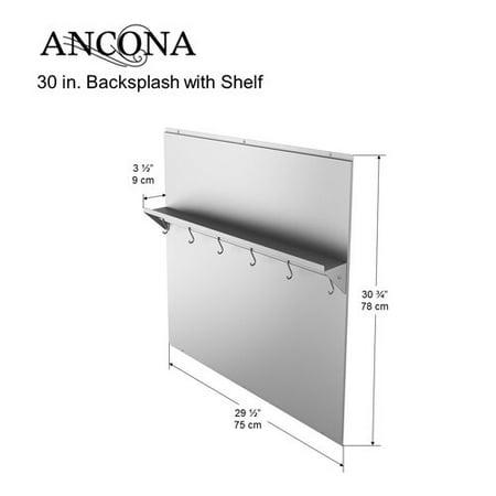 Ancona Backsplash Stainless Steel Wall Mounted Pot Rack (John Boos Stainless Steel Pot Rack)