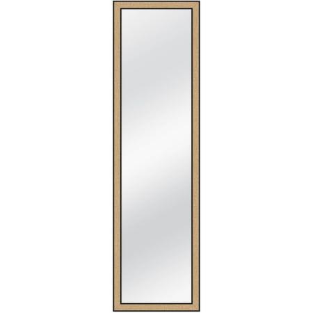 Over-the-Door Mirror with Corkboard Surround, 12x48
