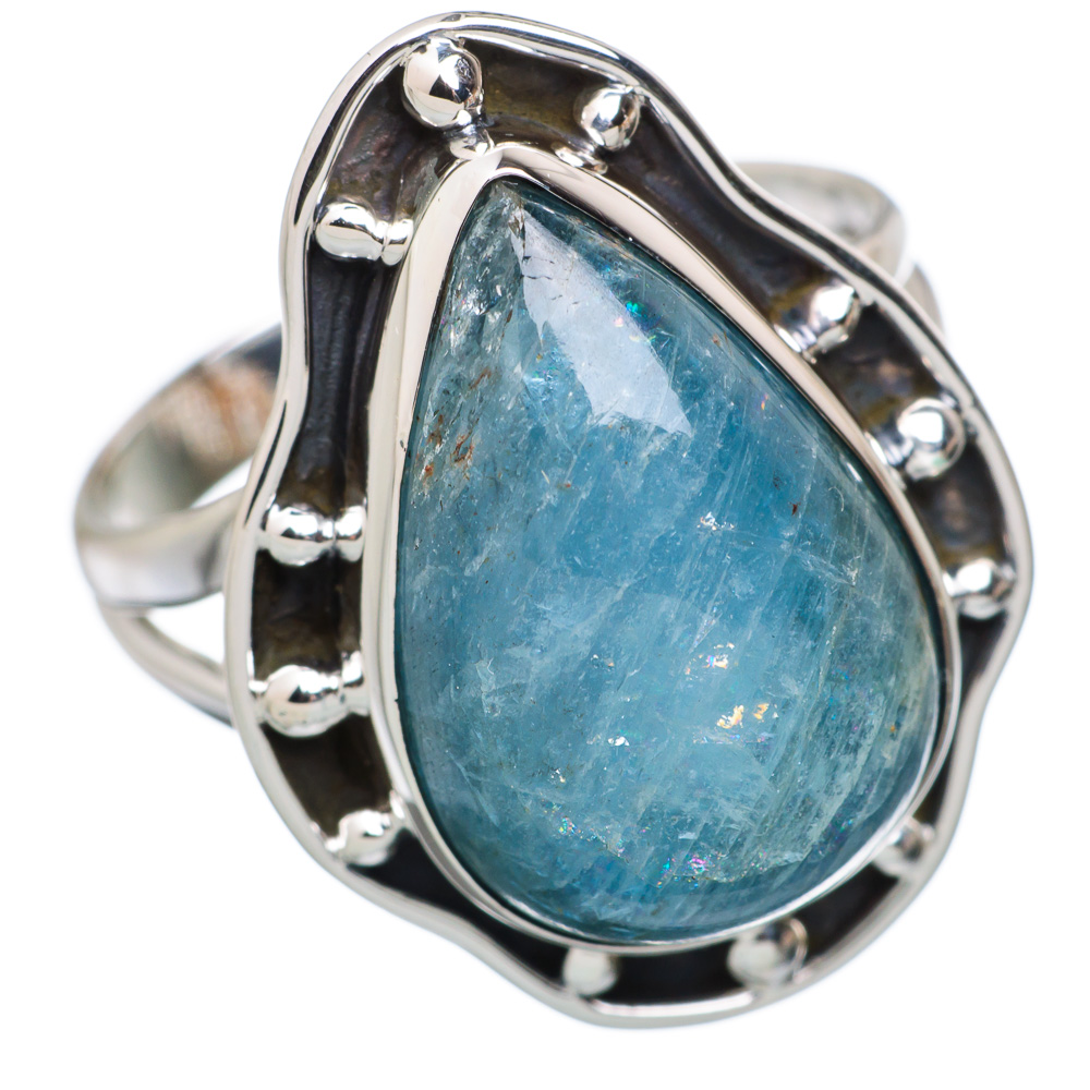Ana Co Natural Aquamarine 925 Sterling Silver Ring Size 9 RING811913