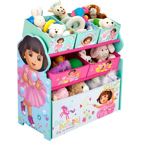 nick jr dora the explorer bedroom set with bonus toy organizer