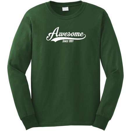 Awesome Since 1991 Long Sleeve Shirt - ID: 1035