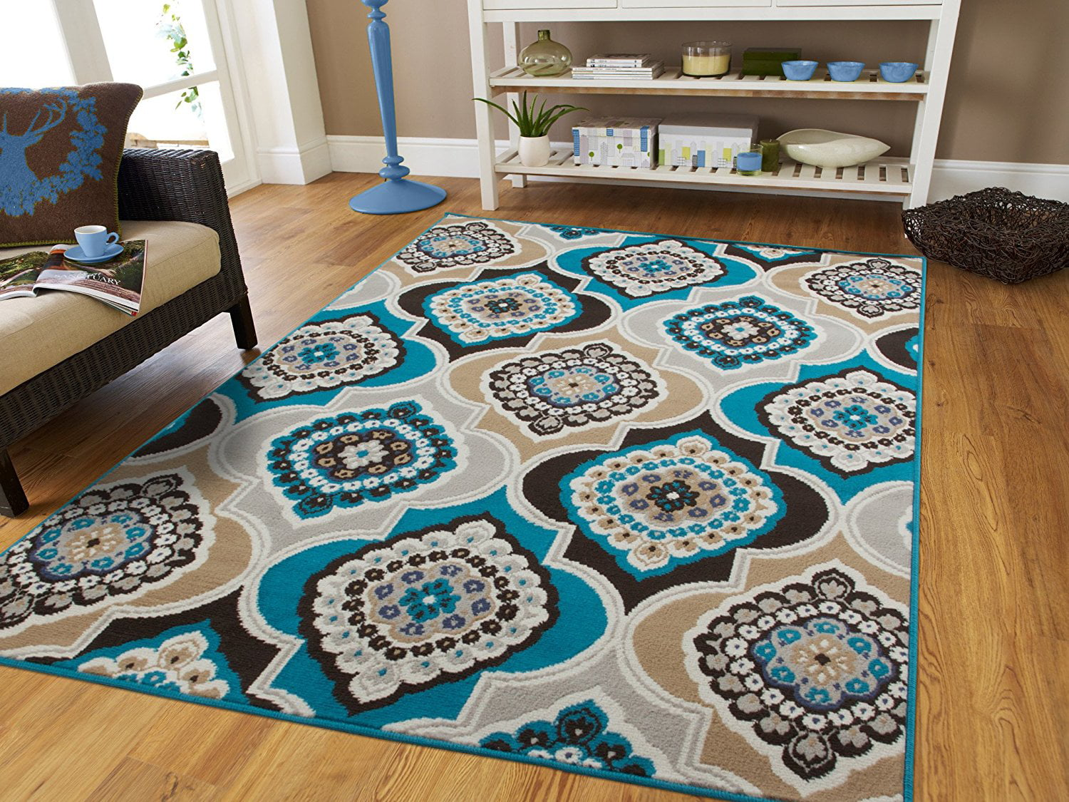Contemporary Area Rugs Blue 5x8 On Clearance 5x7 Gray For Living Room Bedroom Office Rug Modern Under 50 00blue