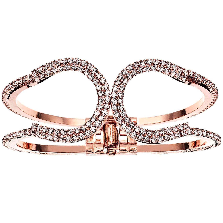X & O 14kt Rose Gold-Plated Horseshoe Cuff Bracelet, One Size