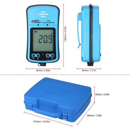 SMART SENSOR Professional Industrial Digital Handheld Portable Automotive Oxygen Meter High Precision O² Gas Tester Monitor Detector with LCD Display Sound and Light Vibration Alarm 100-240V - image 1 of 7