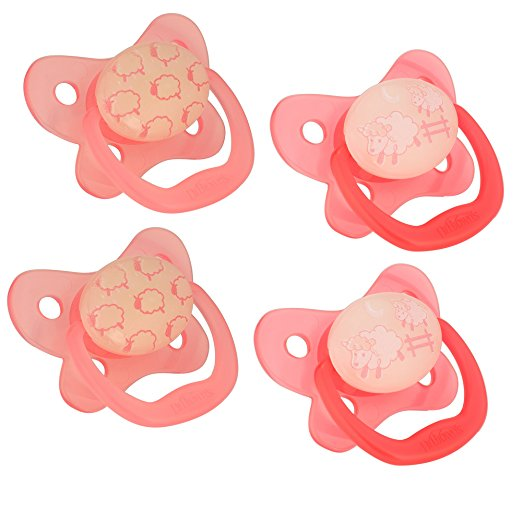 Dr. Brown's Stage 1 Glow in the Dark Pacifier, Pink, 4 Ct
