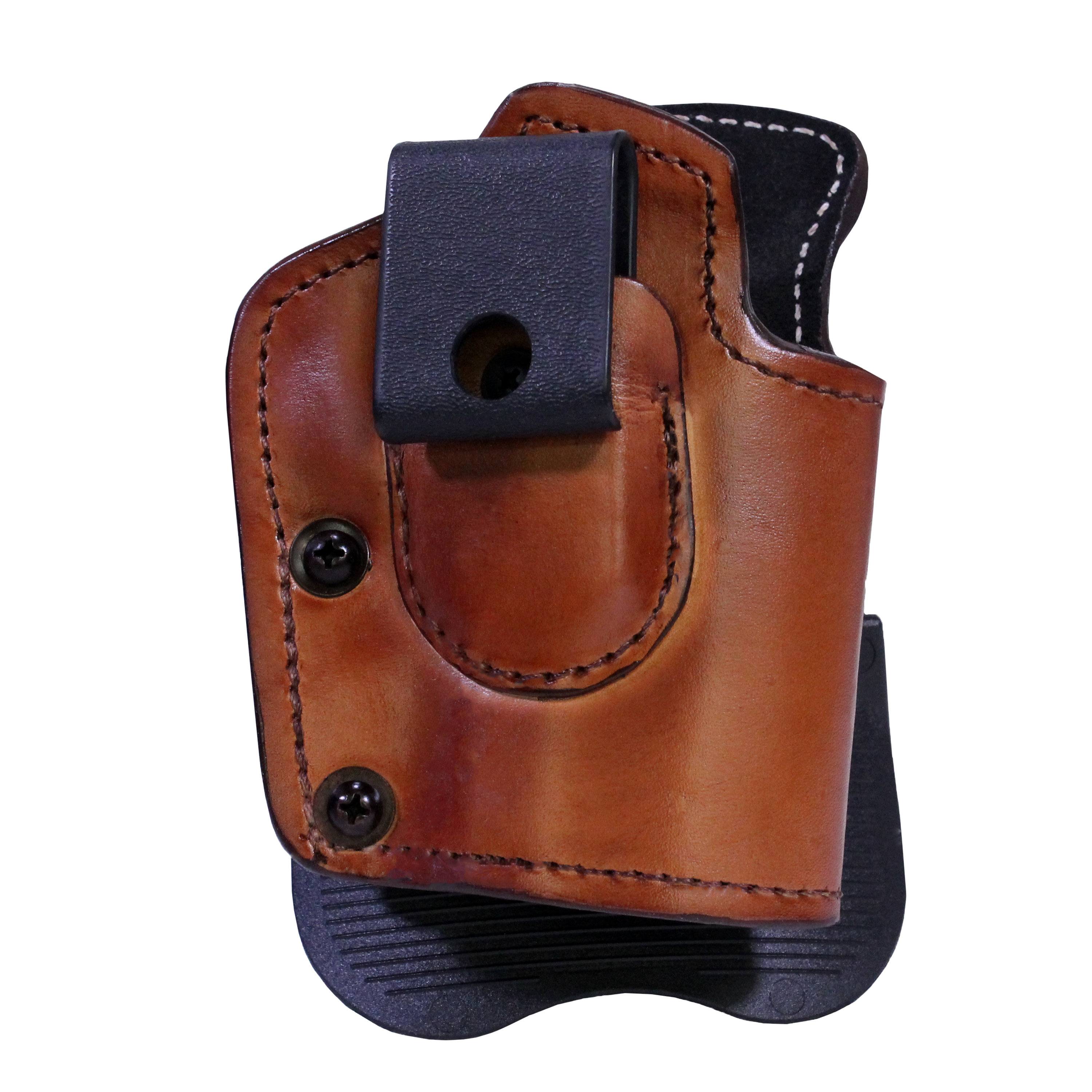 """Frontline Inside Outside Multi Function Leather Holster Taurus 24/7 with 4"""" Barrel, Ambidextrous , Brown with Suede Lining"""