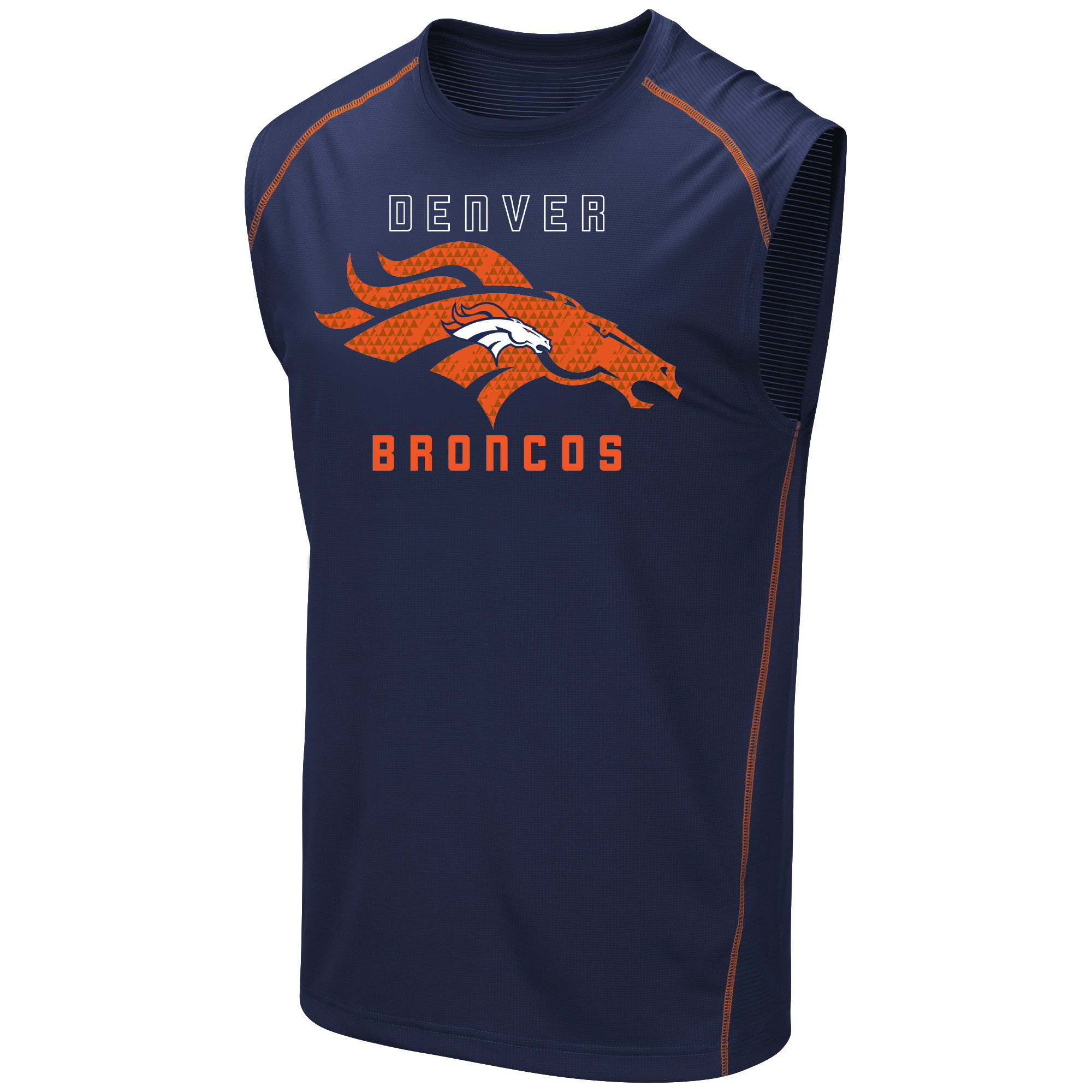 Men's Majestic Navy Denver Broncos Endurance Test Tank Top