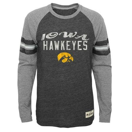 Iowa Hawkeyes Youth NCAA Football Pride Long Sleeve T-Shirt  - (Adidas Ncaa Long Sleeve Shirt)