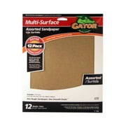 ALI INDUSTRIES 4445 12PK9x11Assorted Sandpaper