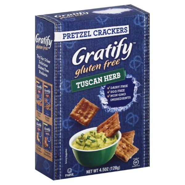 Gratify Gluten Free Pretzel Crackers, Tuscan Herb, 4.5 Oz