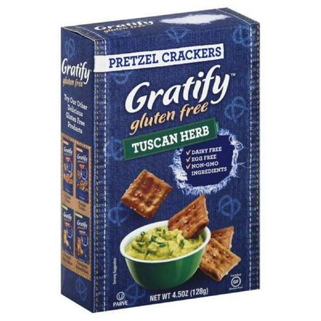 Gratify Gluten Free Pretzel Crackers, Tuscan Herb, 4.5 Oz ...