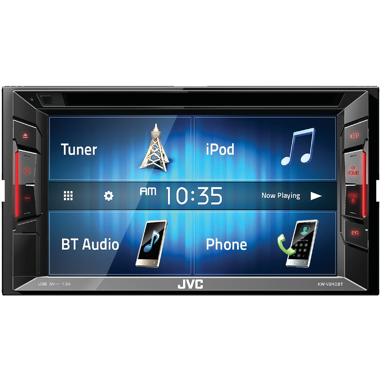 "JVC Mobile KW-V240BT KW-V240BT Double-DIN Bluetooth A/V Receiver with 6.2"" Touchscreen"