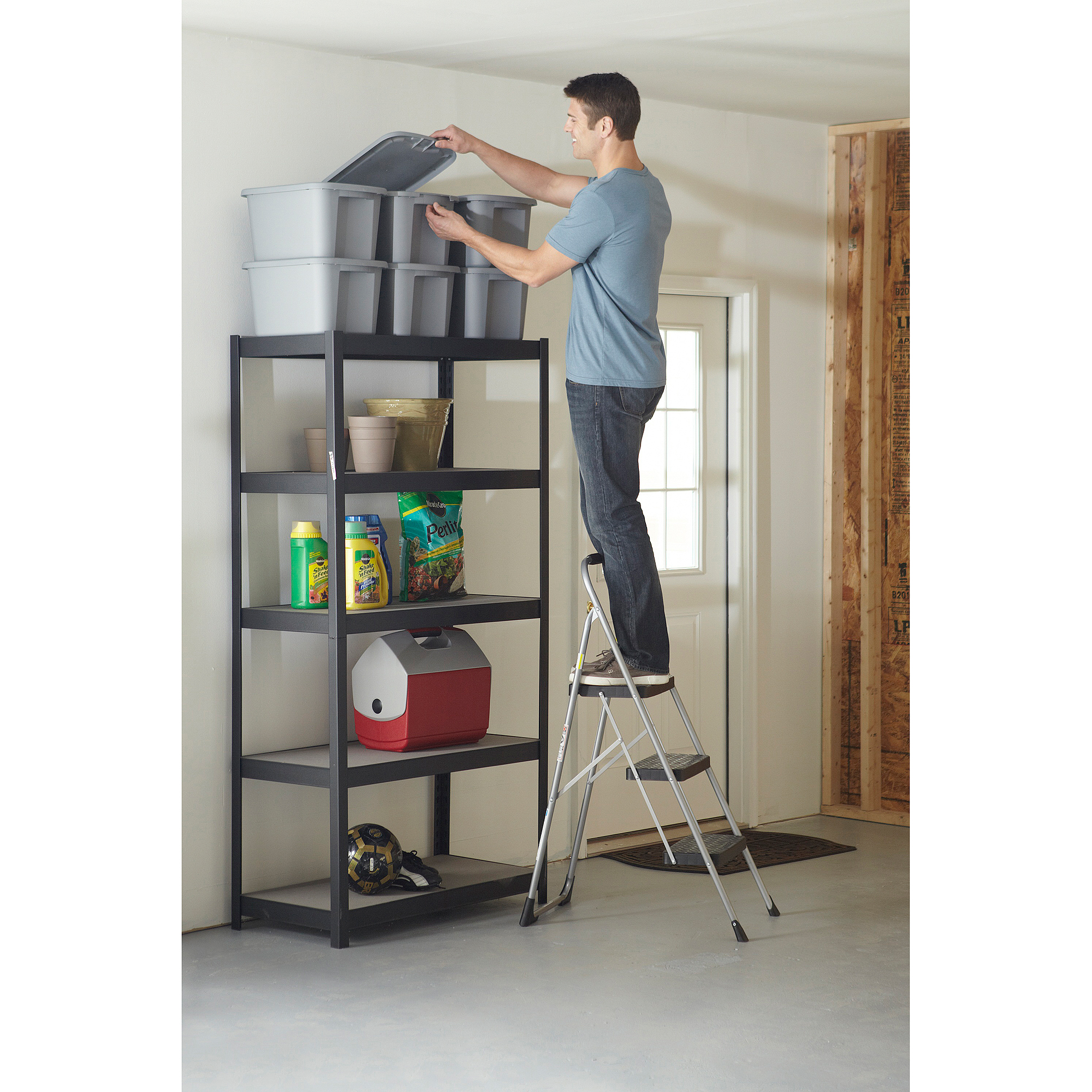 Cosco Big 3-Step Folding Step Stool with Rubber Hand Grip