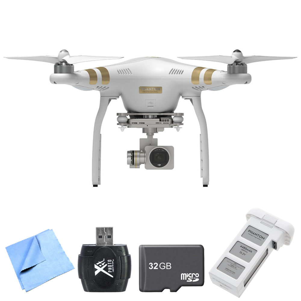 DJI Phantom 3 Professional Quadcopter Drone with 4K Camera High ...