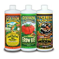 FOXFARM FX14049 Hydro Nutrient Trio Tiger Bloom Grow 3 Qts Liquid Plant Grow