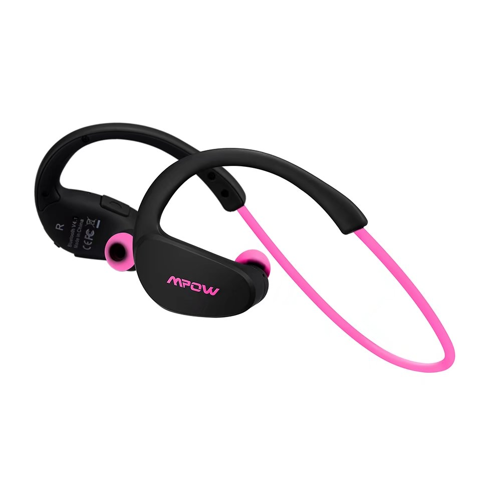 Mpow Cheetah Bluetooth 4.1 Wireless Headphones Stereo Sport Running Gym Exercise Headsets Earphones Hands-free Calling Car Earbuds-Black