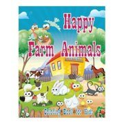 coloring book for kids happy farm animals coloring book creative haven coloring books coloring - Color Books For Kindergarten