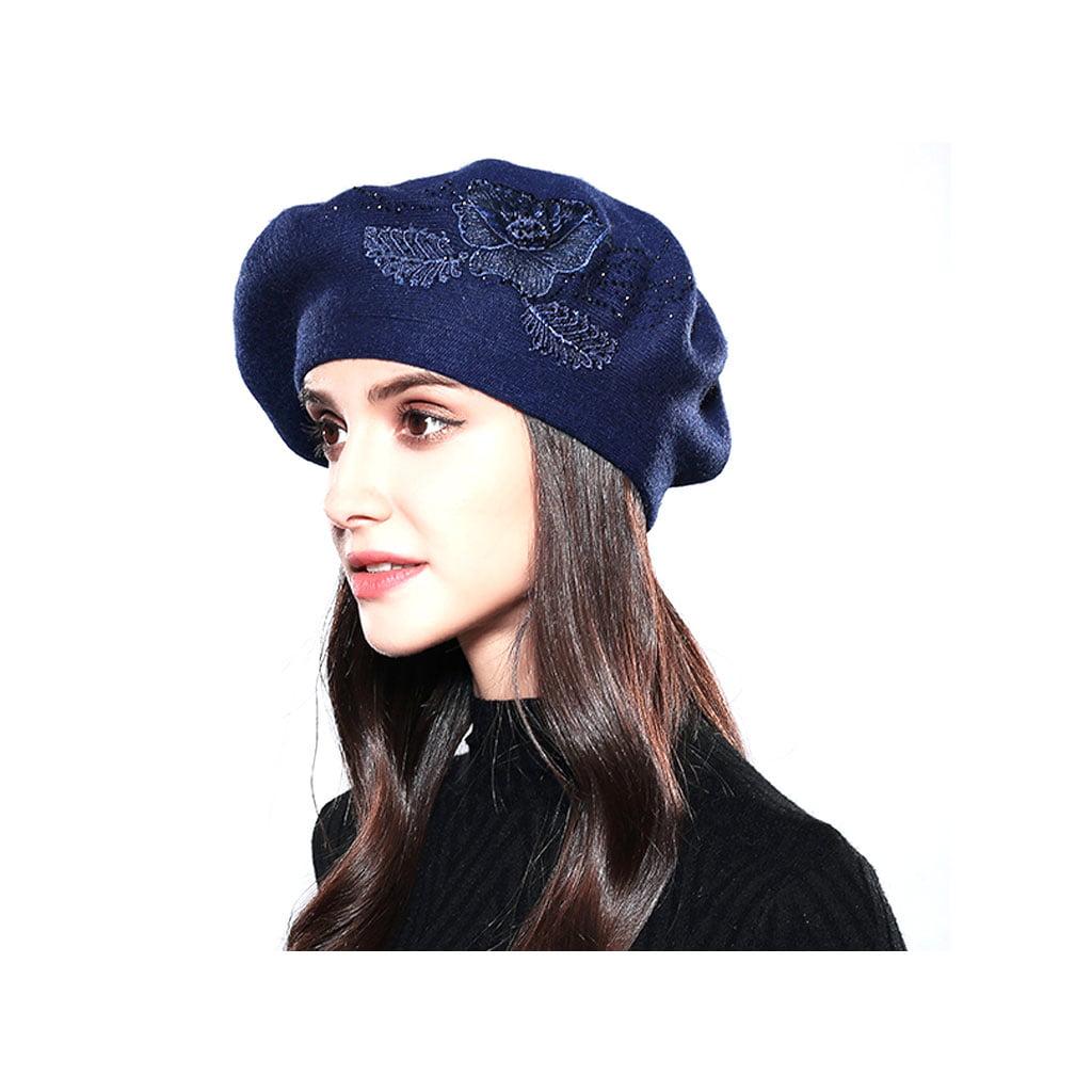 Women Beret Cotton Wool Fashion Winter Hats For Women Caps Relaxed Fit Cap
