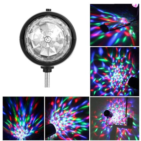 Portable Stage Lights (Mini USB RGB Light,Ymiko USB Mini Stage Lamp Portable LED RGB/White Light Disco Party Lighting Fixture Room)