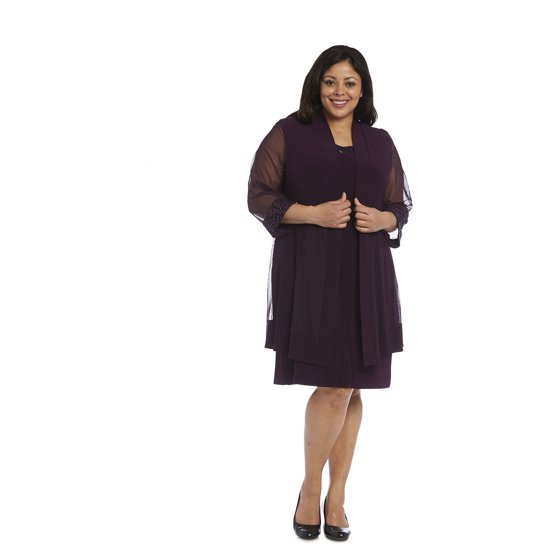 R&M Richards - R & M Richards Plus-size Jacket Dress ...