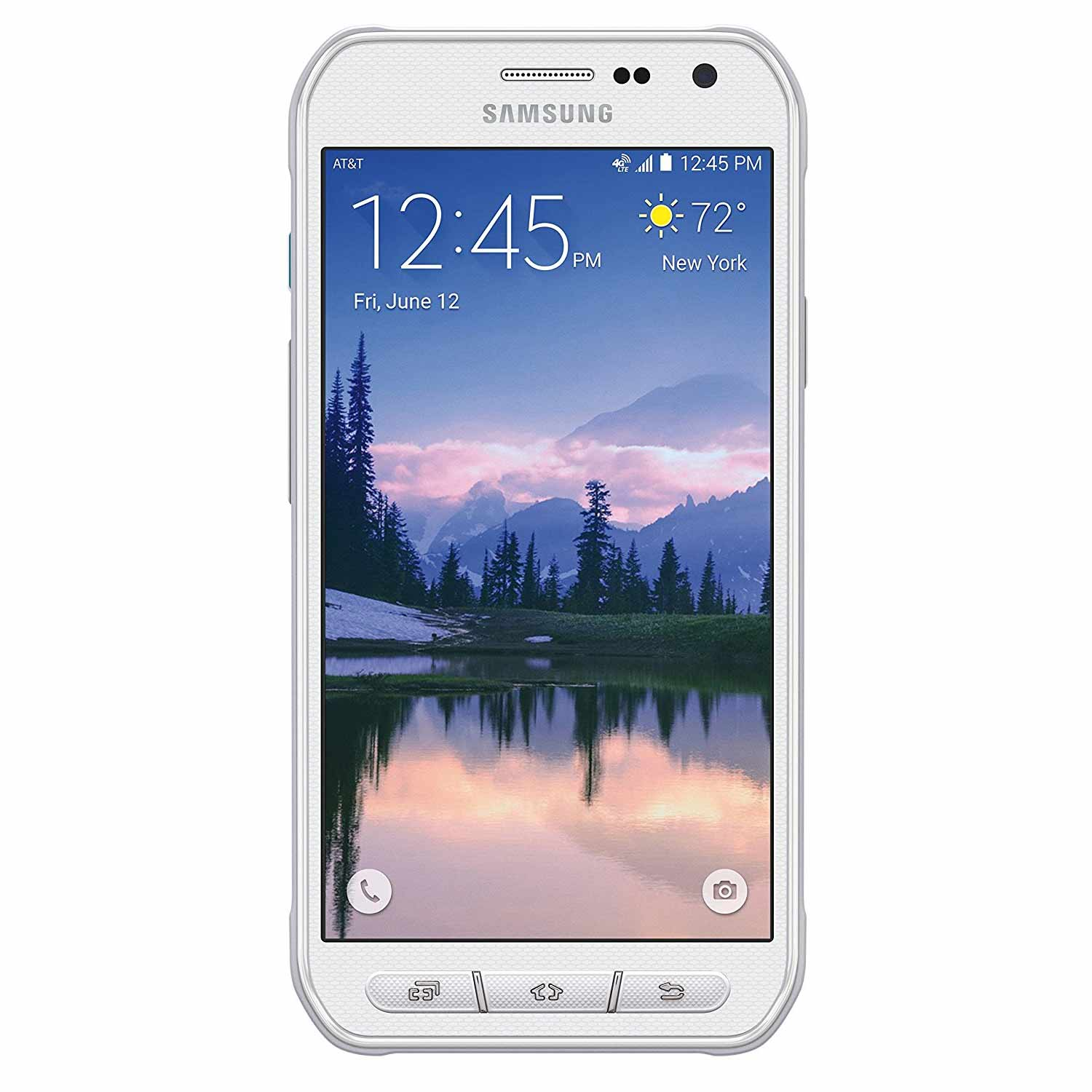 "New Galaxy S6 Active 64GB G890A AT&T 4G LTE 5.1"" AMOLED Display 3GB RAM 16MP Camera Phone by Samsung - White - USA Waranty"