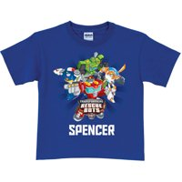 Personalized Transformers Rescue Bots Royal Blue Boys' T-Shirt