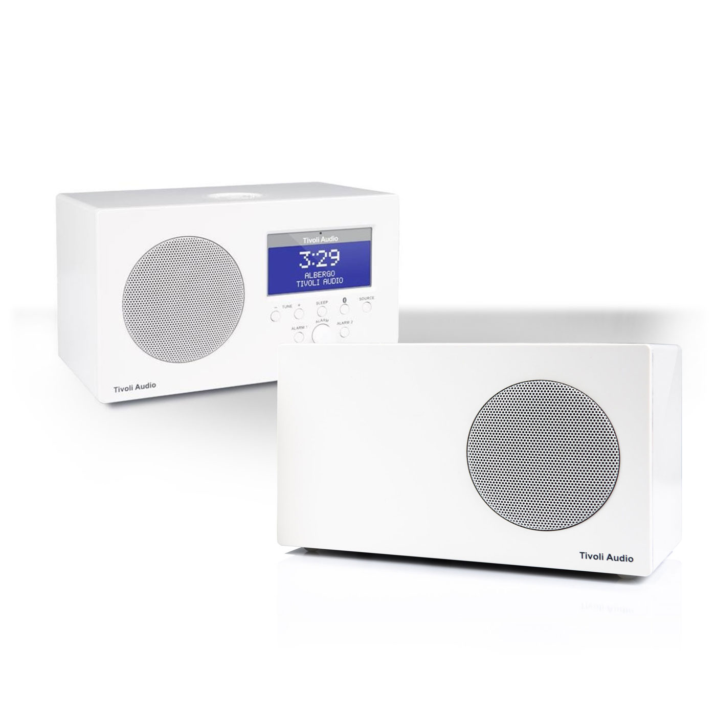 Tivoli Audio Albergo Bluetooth Clock Radio Package with Albergo Stereo Speaker by Tivoli Audio