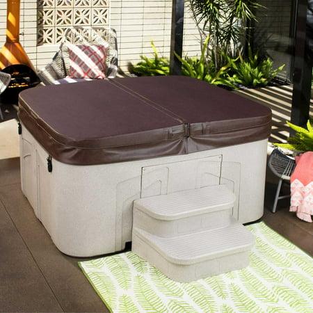 LifeSmart 2 Step Non Slip Rectangle Square Spa Hot Tub Straight Steps, (2 Pack) - image 3 de 6