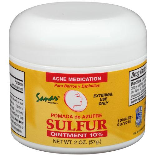 Sanar Naturals Sulfur Ointment, 10% Acne Medication, 2 oz