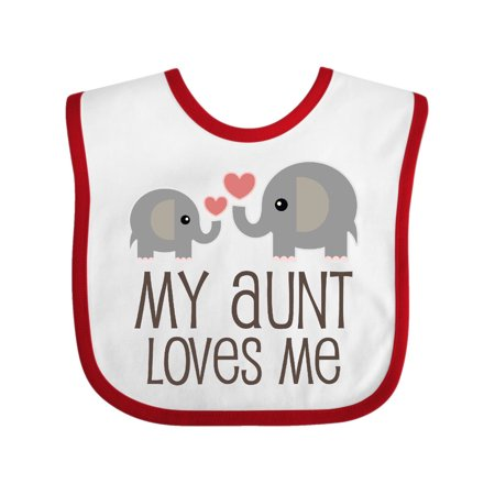 My Aunt Loves Me gift Baby Bib Aunt Personalized Baby Bib