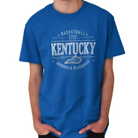 Brisco Brands Kentucky Bourbon Bluegrass Team Short Sleeve Adult T-Shirt ()