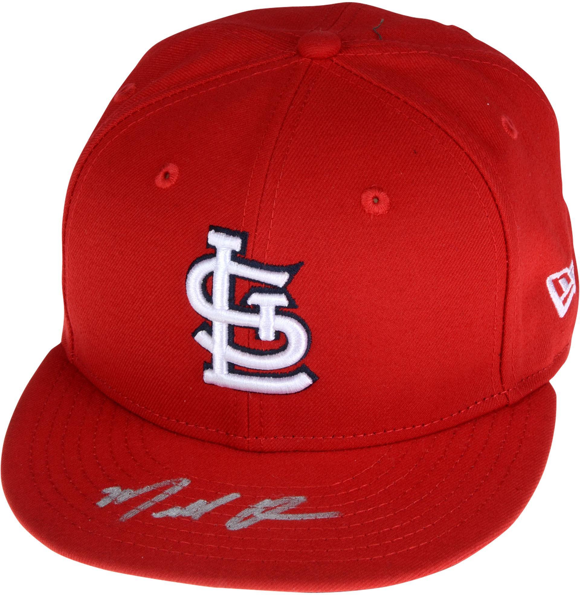 Marcell Ozuna St. Louis Cardinals Autographed New Era Cap - Fanatics Authentic Certified