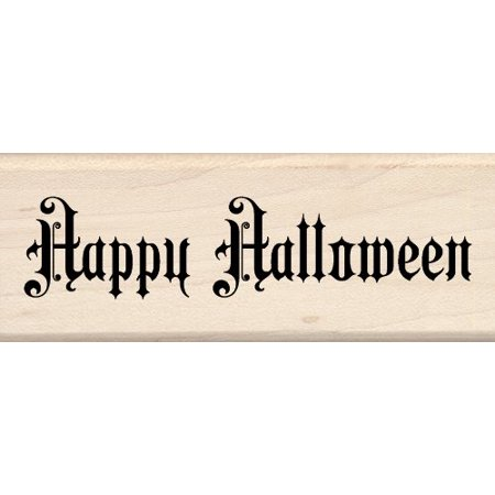 Inkadinkado Wood Stamp, Steampunk Happy Halloween - Stampy And Halloween