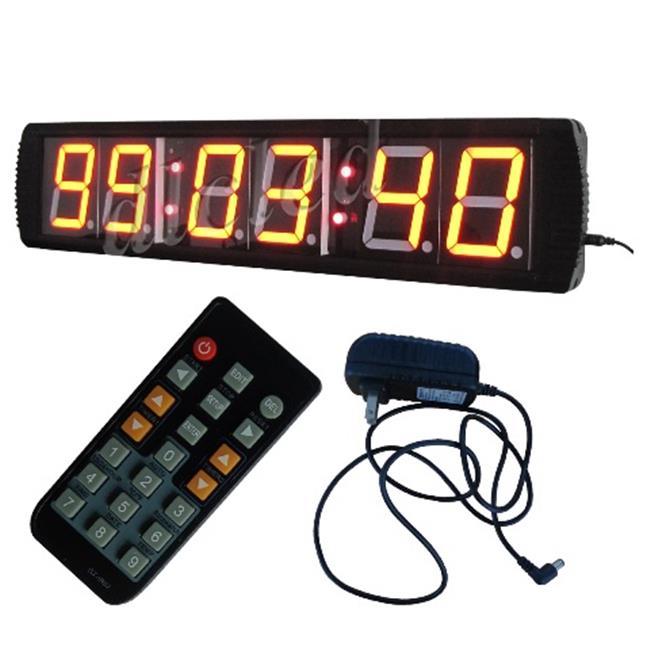 DLC IN6T4R 4 inch 6 Digits LED Digital Clock, Red