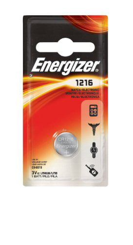 2 Pack Energizer CR1216 Watch Battery Lithium Coin Cell by