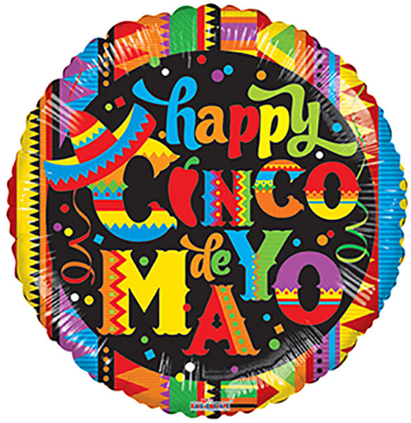"Cinco de Mayo 18"" Mylar Balloons (5 pack)"