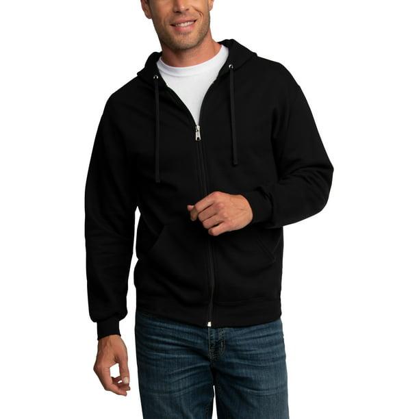 Mens Zip Hoodies Jacket Sweatshirt Hooded Casual Sports Long Sleeve Coat Tops