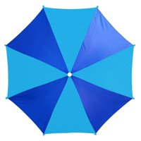 """PMU Two Section Beach Umbrella 6ft Opens to 74"""" Multi 1 Colored Panel Nylon Top w/ Silver Lining Blocking 98% UVA and UVB rays Pkg/1"""