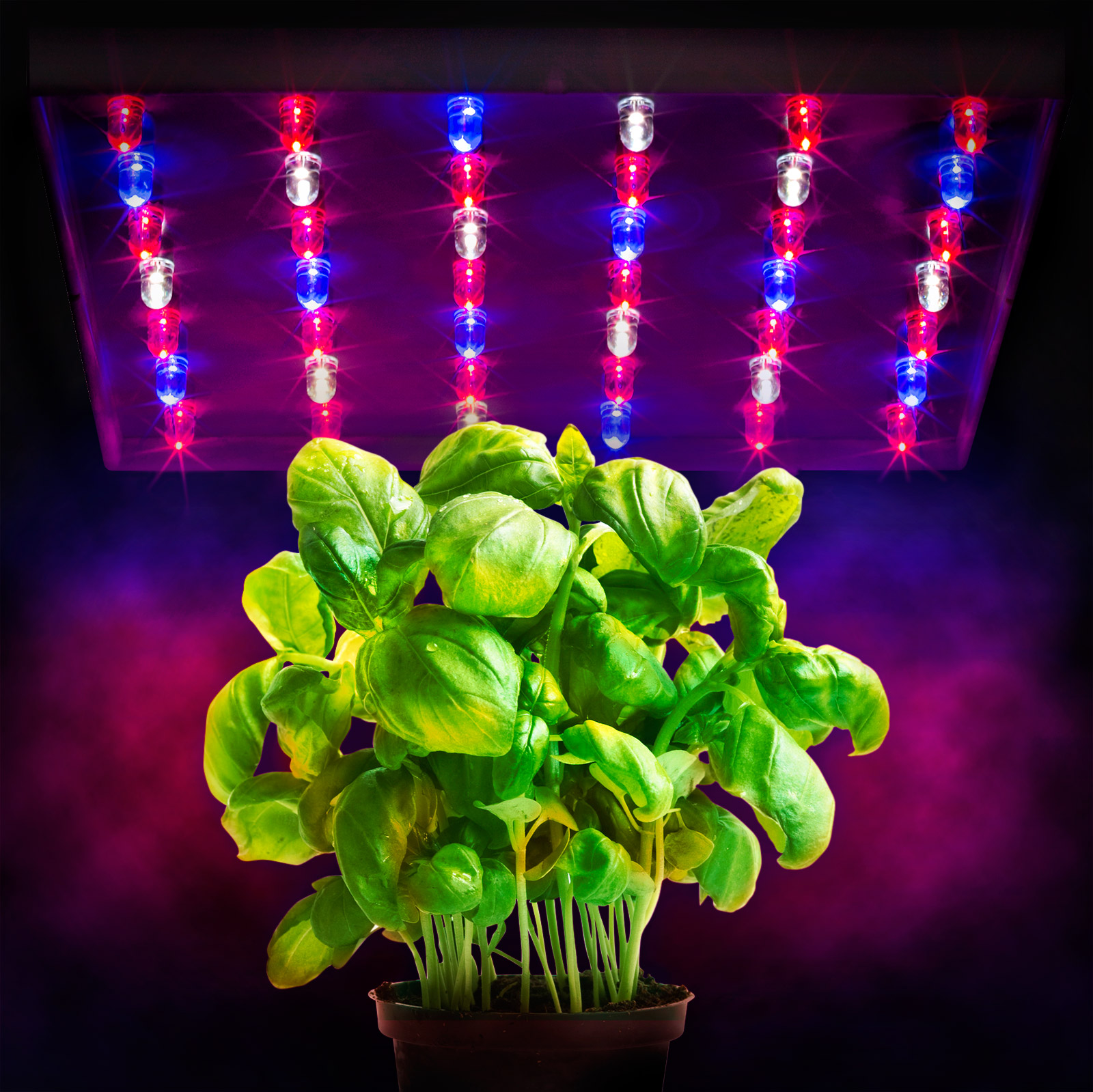 Xen-Lux 20 Watt LED Grow Lights Hydroponics Tri Band Light Panel Red White Blue for flowering with 42 High Output Bulbs Indoor Grow Rooms Tents Greenhouses