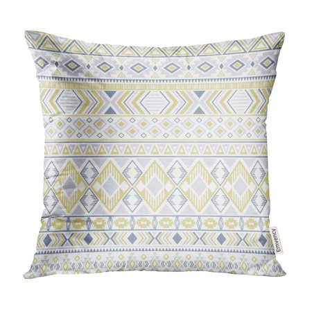 ECCOT Sacral Tribal Ethnic Motifs Geometric Impressive Gypsy Shapes Sprites Traditional Pillow Case Pillow Cover 18x18 inch